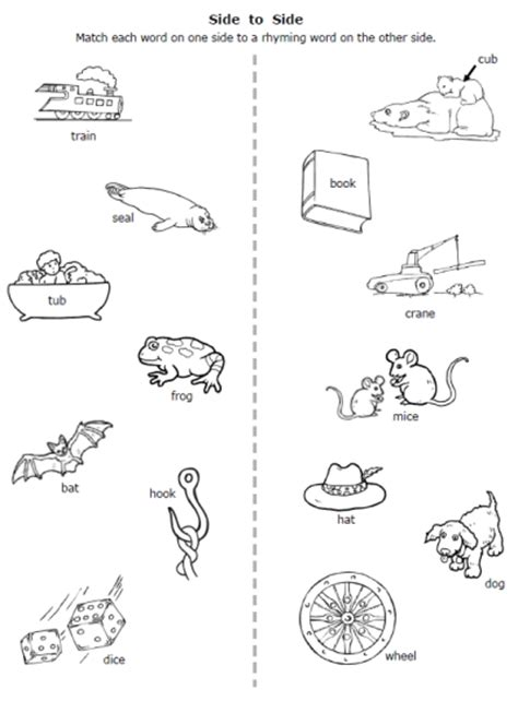 pre k rhyming worksheets worksheets for all and