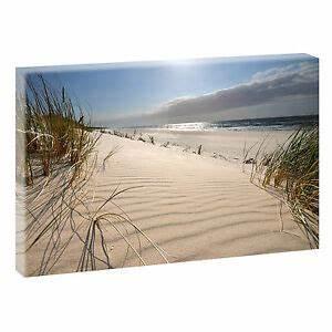 Nordsee Bilder Auf Leinwand : wandbild bild strand meer d nen nordsee leinwand poster xxl 120 cm 80 cm 619 ebay ~ Watch28wear.com Haus und Dekorationen