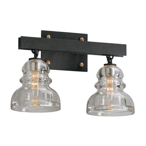 troy lighting menlo park 2 light bronze vanity light