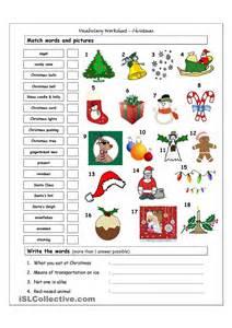 vocabulary matching worksheet xmas christmas pinterest worksheets xmas and english