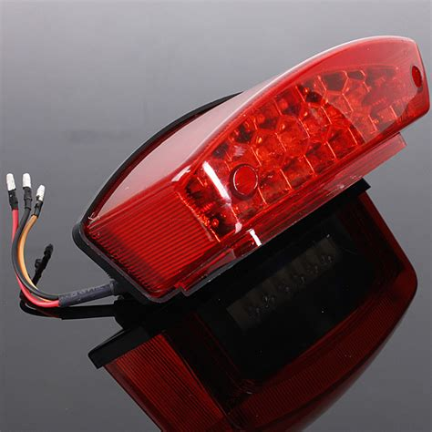 universal 12v led motorcycle brake light license
