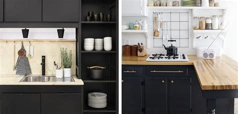 decorar una cocina  tono negro mate