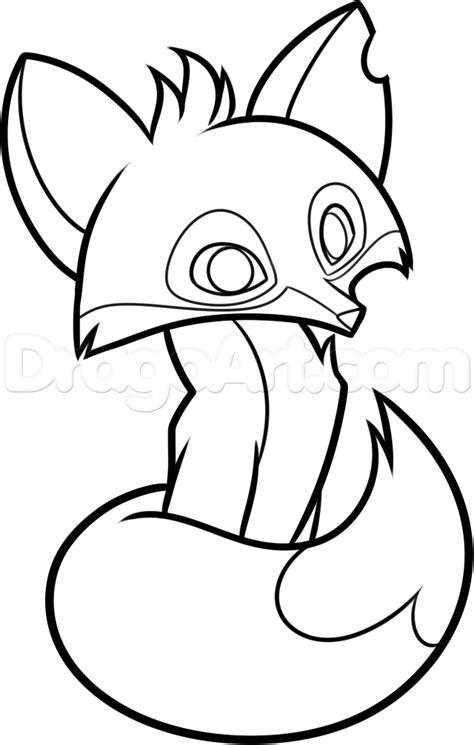 draw  animal jam fox step  step video game