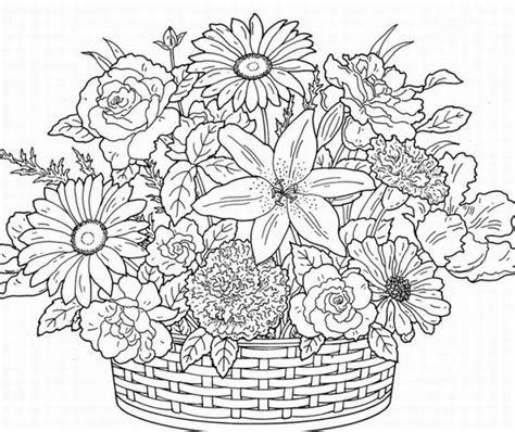 coloring pages of flowers flower coloring pages 360coloringpages