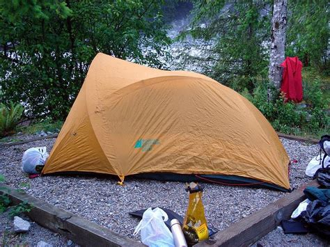 person tents  hiking backpacking