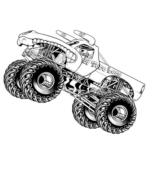 monster trucks coloring pages ausmalbilder für kinder malvorlagen und malbuch