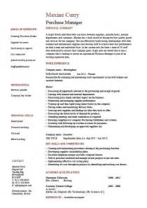 microsoft resume templates word purchase manager resume job description sles exles templates management