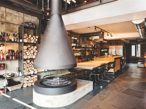 Karakoy Loft Uses Rich Wood Features And Creative Industrial Elements : Interior Design Ideas