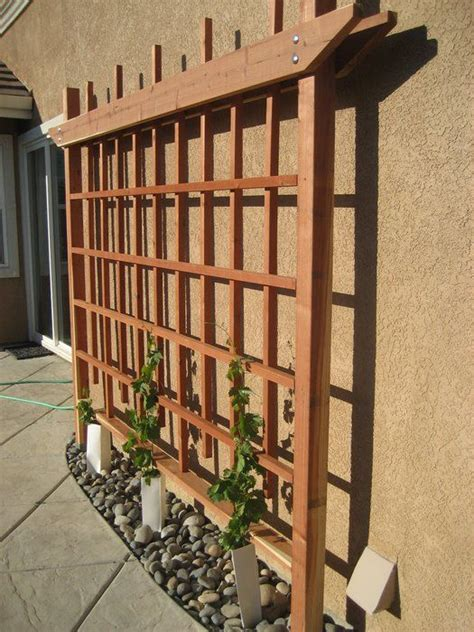 wood trellis design plans   backyard pergola