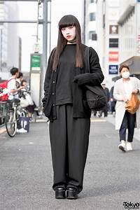 All Black Fashion By Faith Tokyo Red Eye Makeup In Harajuku