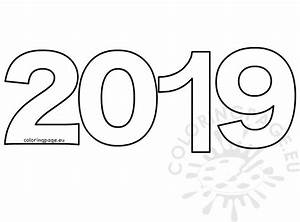 2019 Cut Out Template Printable  U2013 Coloring Page