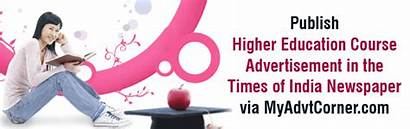 Education Times Advertisement Display Newspaper India Publish