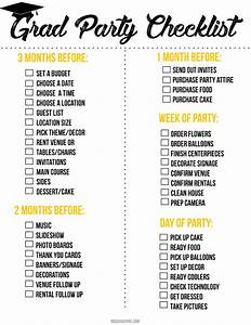 graduation party printable checklist mooshu jenne With graduation party checklist template