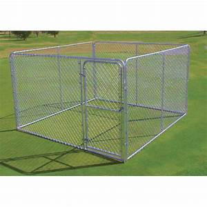 1039 x 1039 x 639 chain link dog kennel With 10 x 10 x 4 dog kennel
