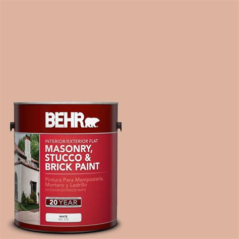 brick paint colors at home depot behr premium 1 gal ms 02 rosestone flat interior exterior masonry stucco and brick paint