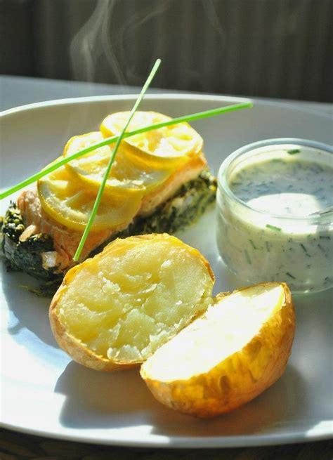 papillote de saumon aux 201 pinards et pommes de terre au