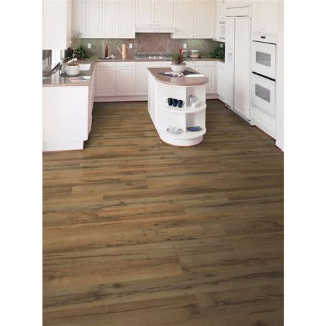 lowes flooring tavern oak shop style selections 7 6 in w x 4 23 ft l tavern oak embossed laminate wood planks at lowes com