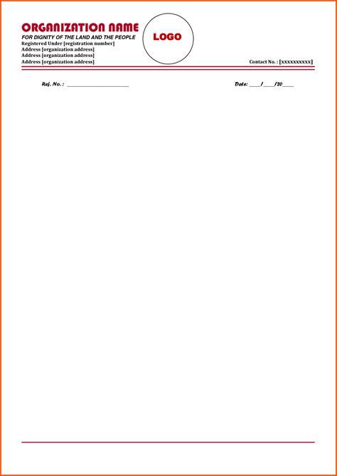 letter head format sop templates  letterheaded paper
