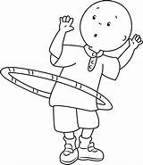 Caillou Coloring Hula Hoop Playing Printable Ring Cartoon Categories Coloringpages101 sketch template