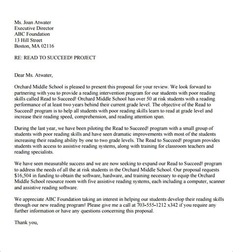 sample proposal letter   documents   word