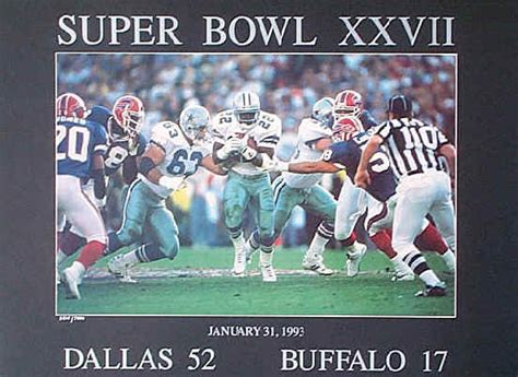 dallas cowboys buffalo bills super bowl xxvii  poster