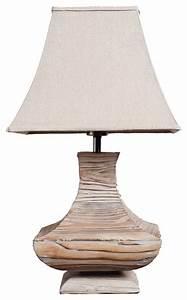 Handmade Wooden Urn Traditioal Living Room Table Lamp ...