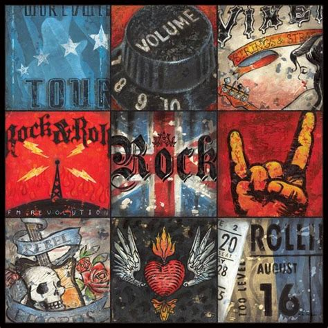 20 Best Ideas Rock And Roll Wall Art