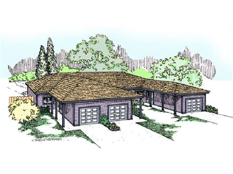 craftsman style house plans one triplex house plans with garage home design and style