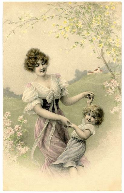 Mother Child Cards Fairy Graphics Mothers Printable