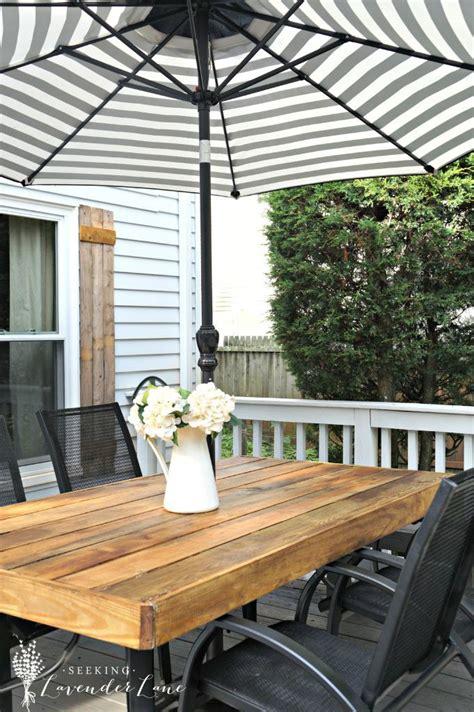 10 diy outdoor farmhouse tables seeking lavendar