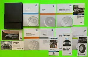 vw jetta factory owners manual set case oem ebay