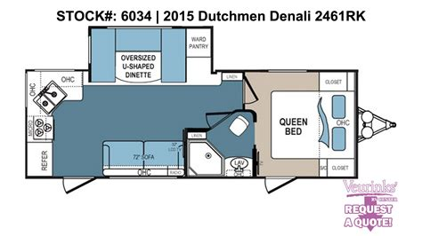 dutchmen denali 2461rk new rear kitchen travel trailer