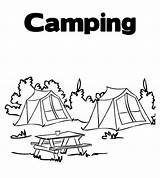 Coloring Tent Camp Summer Forest Pages Camping Colouring Sheets Activity Outdoor Print Activities Kid sketch template