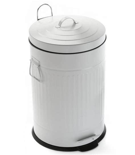 poubelle cuisine originale poubelle de cuisine rétro en métal blanc 20l wadiga com