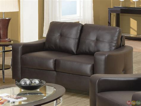 Brown Leather Sofa Set by Contemporary Brown Leather 2 Sofa Set