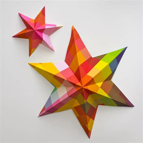 diy paper art projects learn how to make 3d paper stars