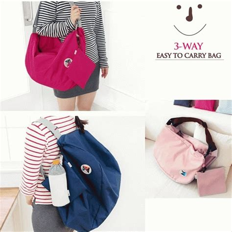 jual korean bag iconic 3 way bag tas serbaguna muktifungsi