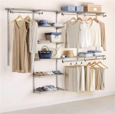 Closet Organization Kit by Custom Closet Organizer Rack Shelves Clothes Hanging Rod