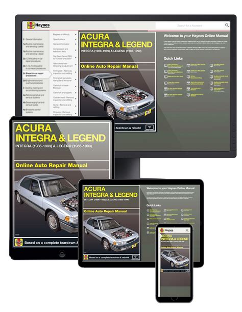 download car manuals 1989 acura legend head up display acura integra 86 89 legend 86 90 haynes online manual haynes manuals