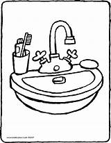 Washbasin Drawing Basin Sink Colouring Bathroom Wash Kiddicolour Coloring Pages Furniture Template Email Sketch Kleurprenten Clipartmag Recipient 01v sketch template