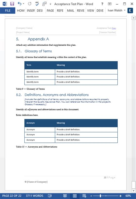 acceptance test plan template ms word instant