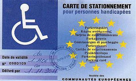 stationnement la gratuite pour les handicapes adoptee