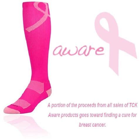 hot pink breast cancer ribbon pink ribbon breast cancer awareness football socks tck
