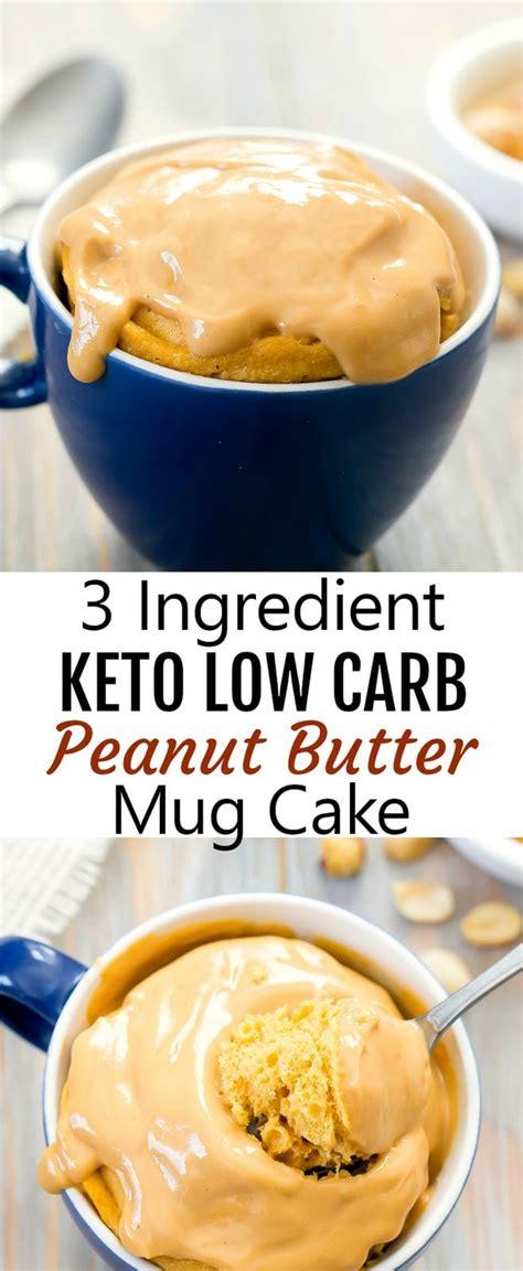 ingredient keto peanut butter mug cake recipe mug