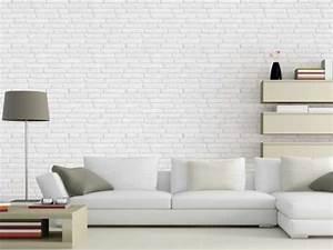 Pierre Blanche Leroy Merlin : ambiance loft avec papier peint effet brique leroy merlin ~ Melissatoandfro.com Idées de Décoration