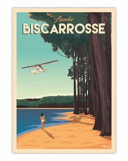 Poster Biscarrosse Marcel Cm Previous Travelposters