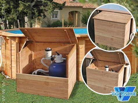 coffre pour pompe piscine coffre de filtration bois oslo 1 2 x 1 14 x 0 80m pour piscine hors sol sur march 233 delapiscine