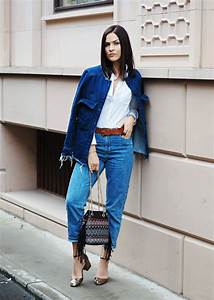 Double denim granny shoes mom jeans by UK blogger LAFOTKA