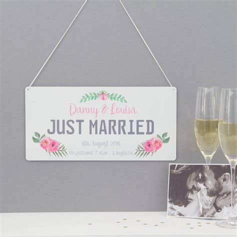 personalised  married number plate sign  hoobynoo