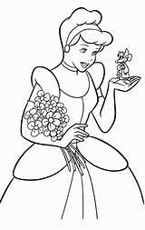 Coloring Cinderella Pages Princess Print Printable Cartoon Popular Disney Coloringhome sketch template